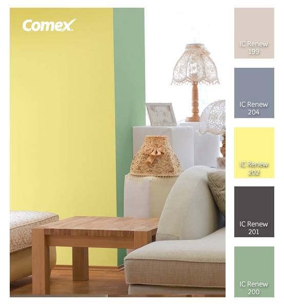 Recomendaciones de color comex san juan m rida yucat n for Colores pintura pared 2016